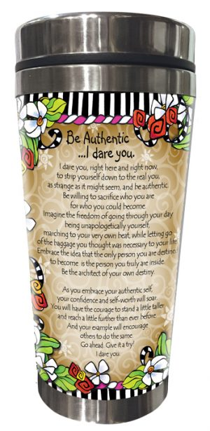 Brave Enough - Stainless Steel Tumbler - BACK