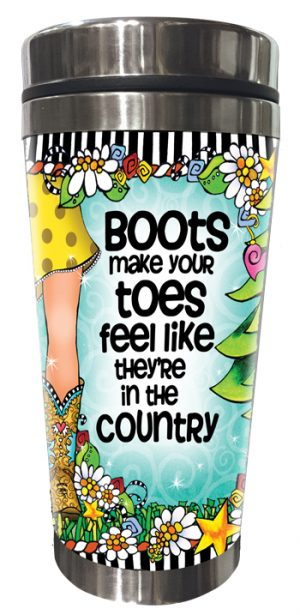 Country Toes - Stainless steel tumbler - FRONT