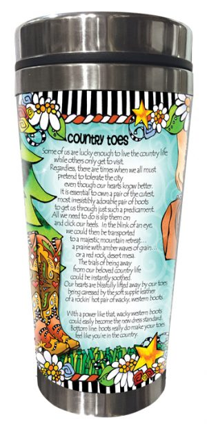 Country Toes - Stainless steel tumbler - BACK