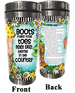 Country Toes - Stainless steel tumbler