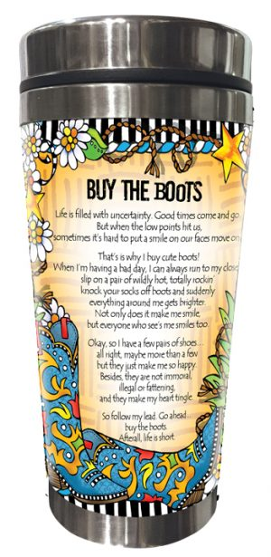 Buy the Boots - stainless steel tumbler - BACK
