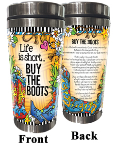 Buy the Boots - stainless steel tumbler