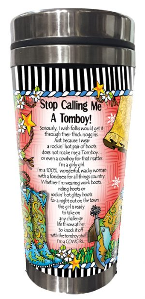 Tomboy - stainless steel tumbler - BACK