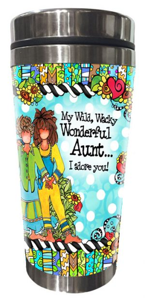 Aunt Stainless Steel tumbler - FRONT