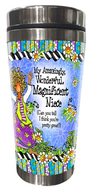 Niece - stainless Steel Tumbler - FRONT