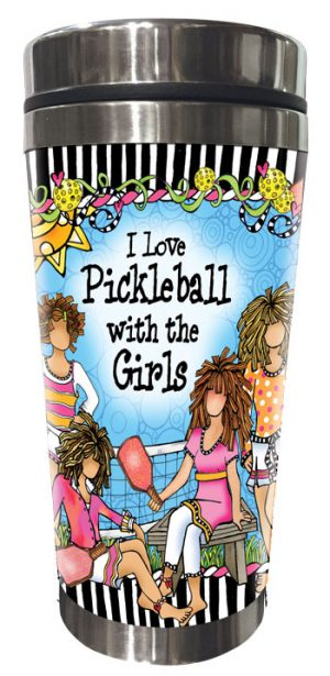Pickleball - Stainless Steel tumbler - FRONT
