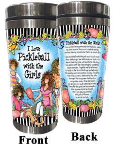 Pickleball - Stainless Steel tumbler