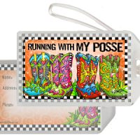 Running With My Posse (TingleBoots) – Bag Tag