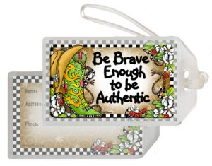 Brave Enough - bag tag
