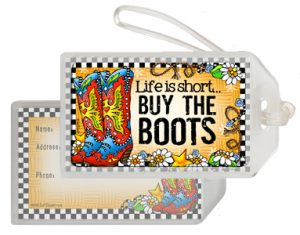 Buy the Boots - bag tag