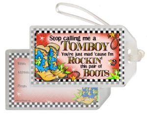 Tomboy - bag tag