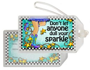 Sparkle Boots - bag tag