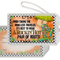When Taking the Road Less Traveled, It's Best To Wear A Rockin' Hot Pair of Boots!  (TingleBoots) – Bag Tag