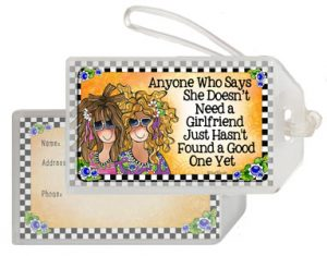 Girlfriends - bag tag