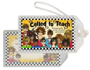 called to teach - bag tag
