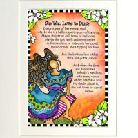"She Who Loves to Dance – 8 x 10 Matted ""Gifty"" Art Print"