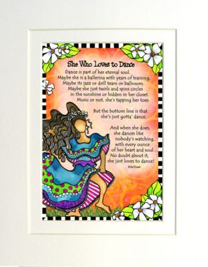 Loves to Dance matted Art Print