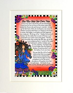 Sets Her Own Pace - matted print