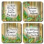 Be Kind – (Kukana) Set of 4 Coasters
