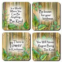 Be Kind – (Kukana) Set of 4 Coasters