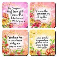 My Daughter, My Heart – (Kukana) Set of 4 Coasters