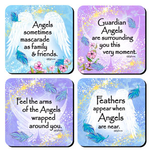 Angels Among Us - Coaster set