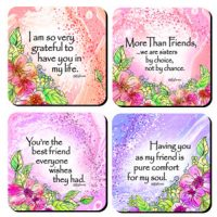 More Than Friends – (Kukana) Set of 4 Coasters