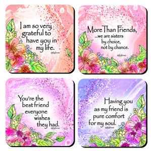 More Than friends - Coaster set