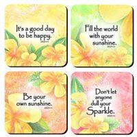 Be Your own Sunshine – (Kukana) Set of 4 Coasters