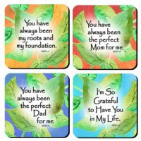 Mom & Dad Collection – (Kukana) Set of 4 Coasters