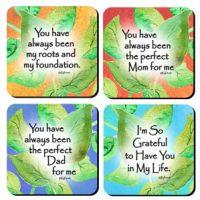 Mom & Dad Collection – (Kukana) Set of 4 Coasters