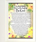 "In a World Where You Can Be Anything Be Kind – (Kukana) 8 x 10 Matted ""Gifty"" Art Print"