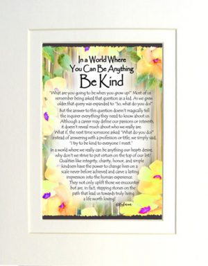 Be Kind - Matted Art Print