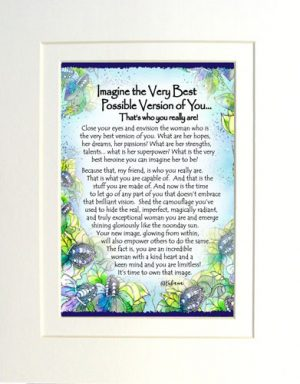 Best Possible Version - Matted Art Print