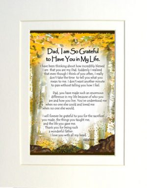 Dad, So Grateful - Matted Art Print