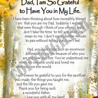 """Dad, I am So Grateful to Have You in My Life. – (Kukana) 8 x 10 Matted """"Gifty"""" Art Print"""