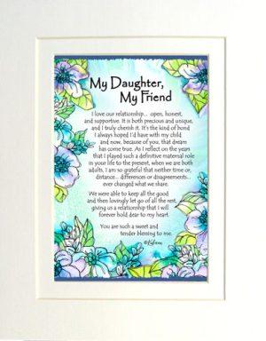 Daughter Friend - Matted Art Print