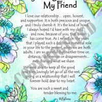 """My Daughter, My Friend – (Kukana) 8 x 10 Matted """"Gifty"""" Art Print"""