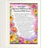 "My Daughter… My Heart Will Forever Be Intertwined With Yours – (Kukana) 8 x 10 Matted ""Gifty"" Art Print"