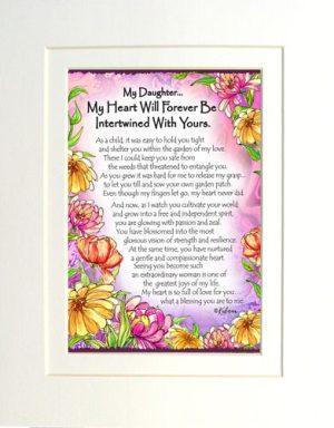 Daughter heart - Matted Art Print