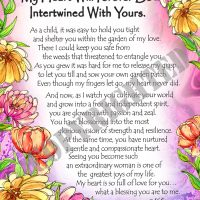 """My Daughter… My Heart Will Forever Be Intertwined With Yours – (Kukana) 8 x 10 Matted """"Gifty"""" Art Print"""