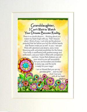 Granddaughter - Matted Art Print