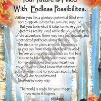 """Your Future is Filled With Endless Possibilities. – (Kukana) 8 x 10 Matted """"Gifty"""" Art Print"""