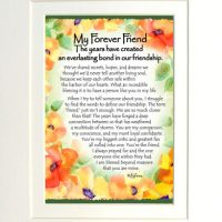 """My Forever Friend  The years have created an everlasting bond in our relationship. – (Kukana) 8 x 10 Matted """"Gifty"""" Art Print"""