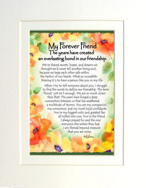 Forever Friend- Matted Art Print