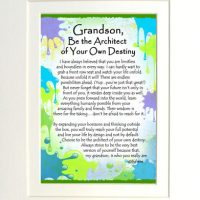 """Grandson, Be the Architect of Your Own Destiny – (Kukana) 8 x 10 Matted """"Gifty"""" Art Print"""
