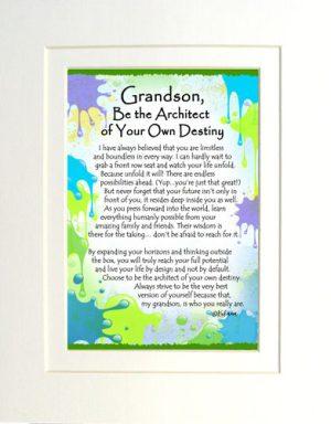Grandson - Matted Art Print