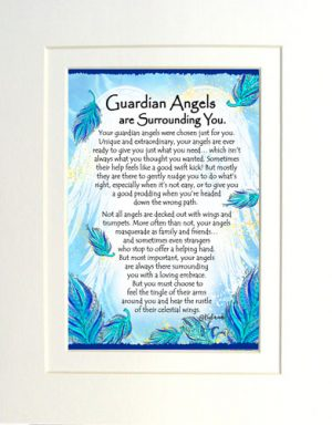 Guardian Angels - Matted Art Print