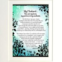 "My Husband… You are my lover, my partner, & my soulmate. – (Kukana) 8 x 10 Matted ""Gifty"" Art Print"