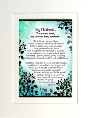 My Husband - Matted Art Print